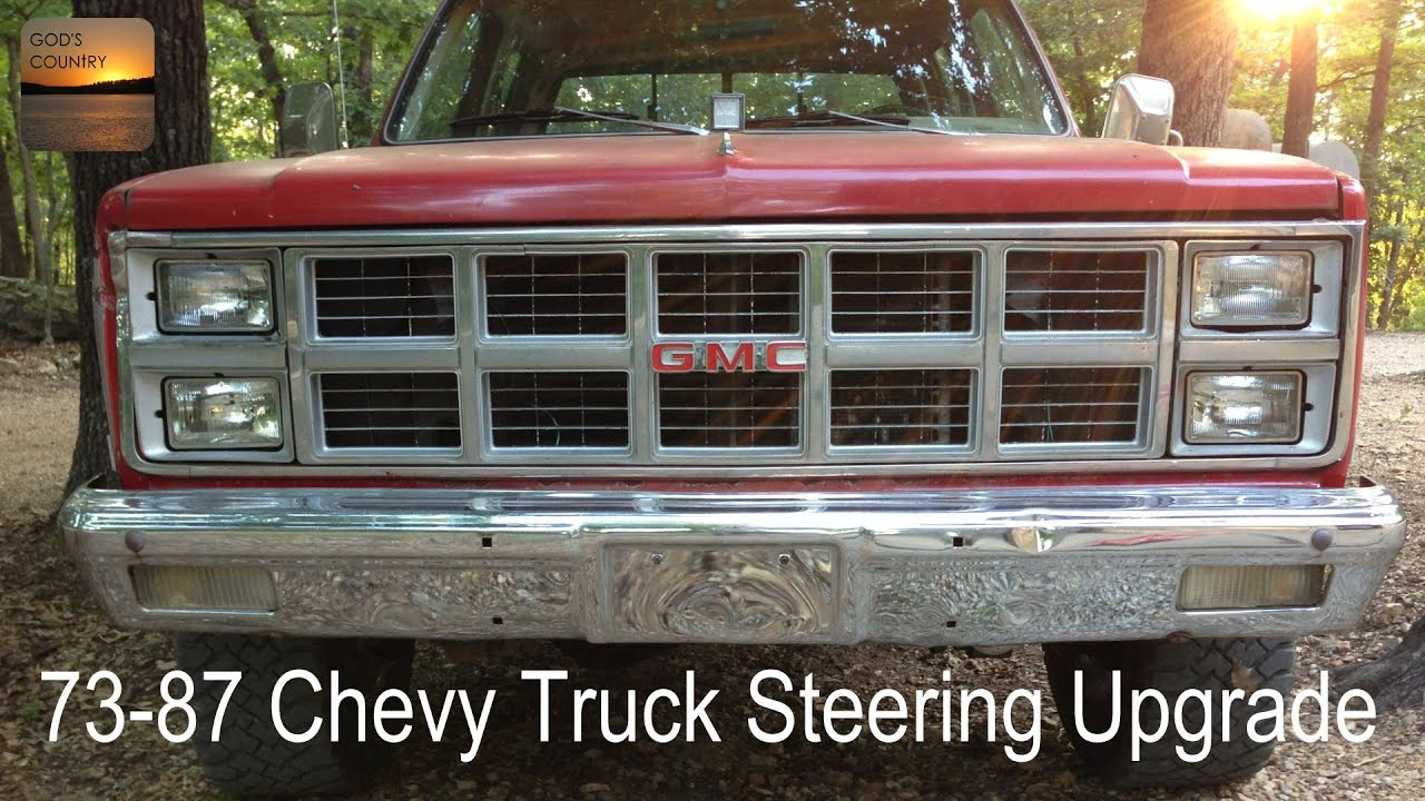 small resolution of 73 87 chevy gmc truck steering upgrade jeep cherokee xj steering shaft youtube