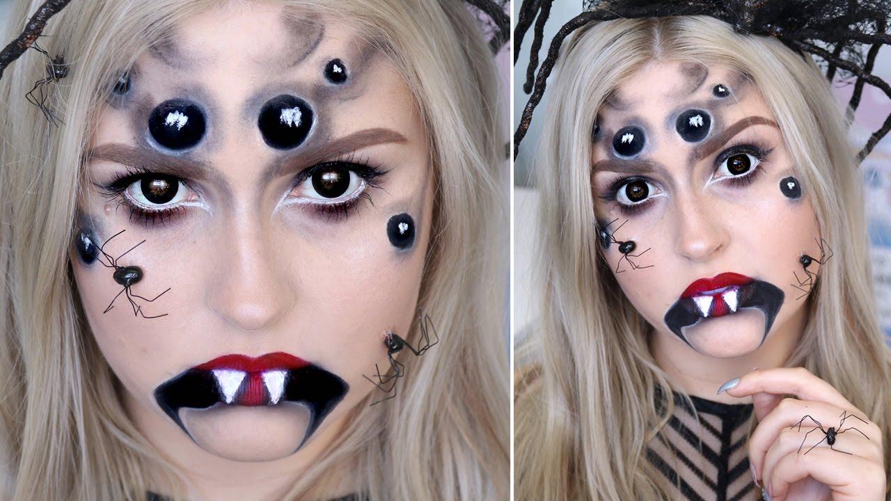 Creepy Spider Halloween Makeup ♡ Arachnid Queen Tutorial - YouTube
