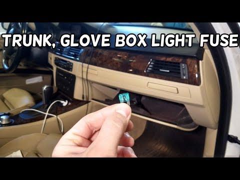 [DIAGRAM_3US]  TRUNK BOOT LIGHT GLOVE BOX COMPARTMENT LIGHT FUSE LOCATION BMW E90 E91 E92  E93 - YouTube | Glove Department Fuse Box 328i Bmw |  | YouTube