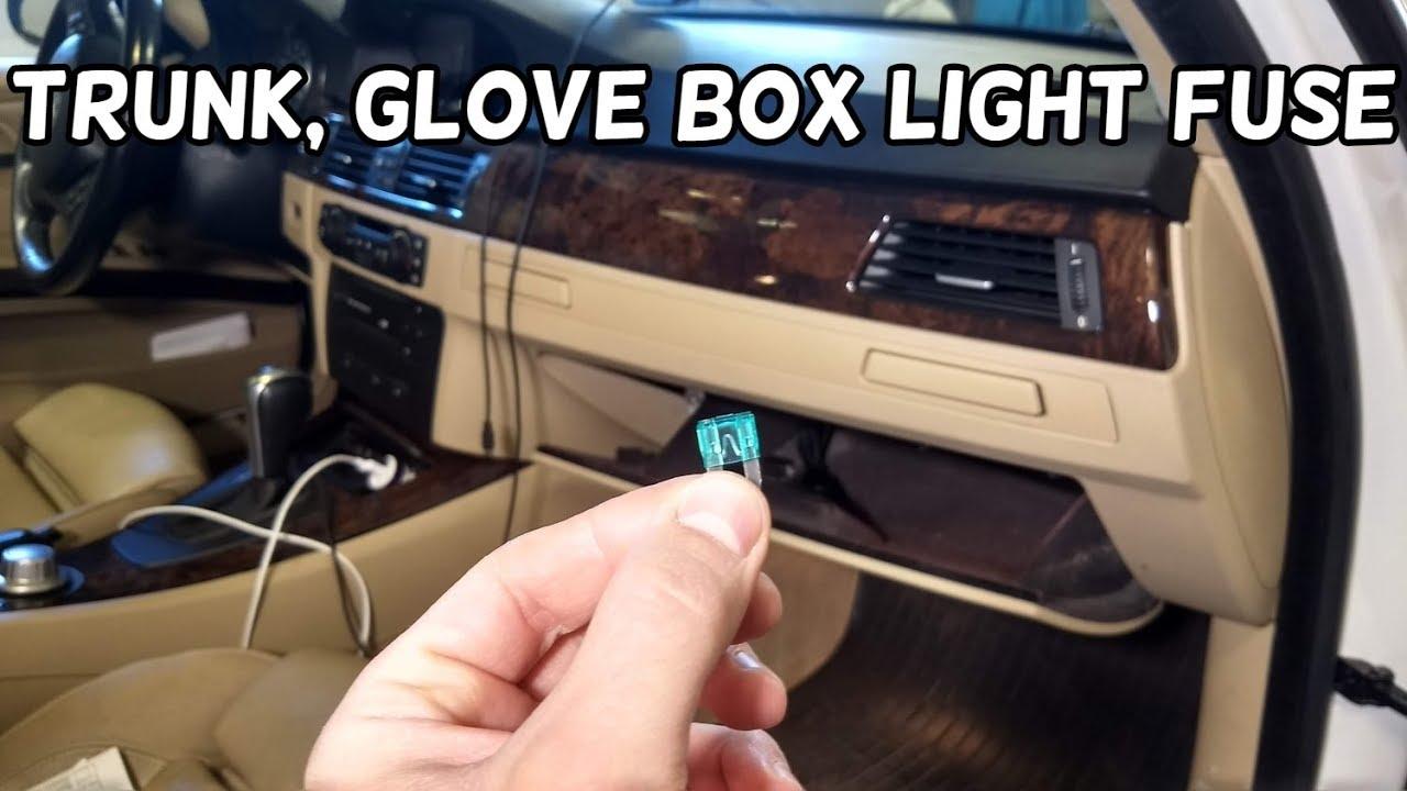 trunk boot light glove box compartment light fuse location bmw e90 e91 e92 e93 [ 1280 x 720 Pixel ]