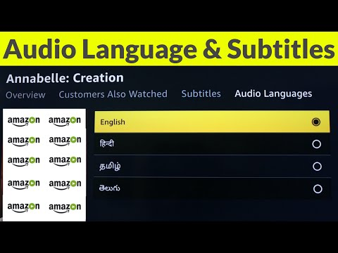 How To Change Amazon Prime Movies Audio Language & Also Get Video Subtitles