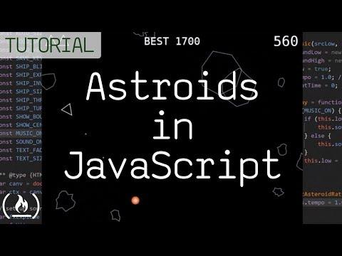 Code Asteroids In JavaScript (1979 Atari Game) - Tutorial