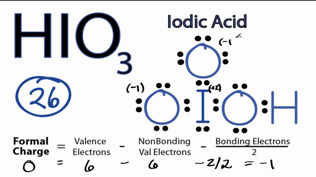 HIO3 Lewis Structure: How to Draw the Lewis Structure for ...