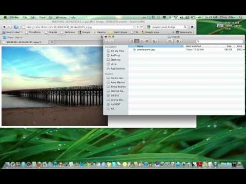How to save an image or link to a desktop folder