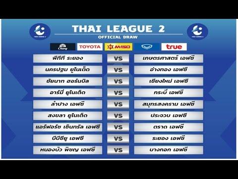 CMFC TV : ผลการจับสลากประกบคู่การแข่งขันไทยลีก 2 นัดเปิดฤดูกาล 2017