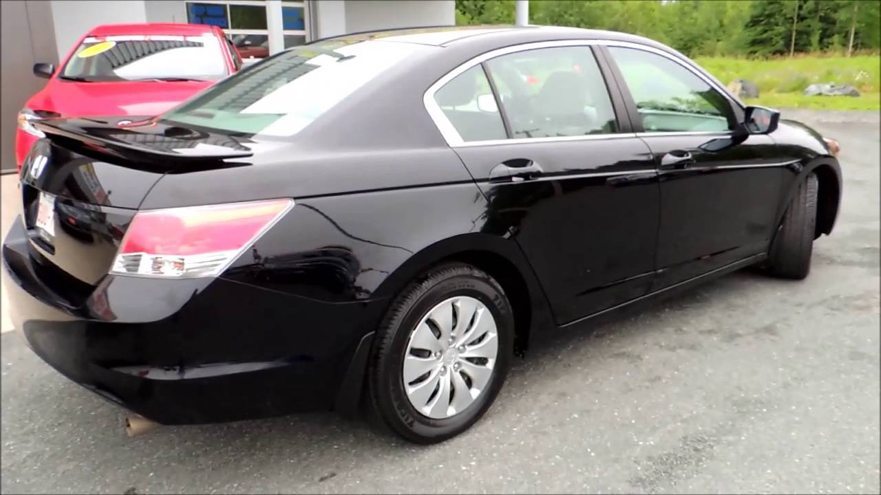 16302a Honda Accord Lx 4dr Aut Black 2008 Youtube