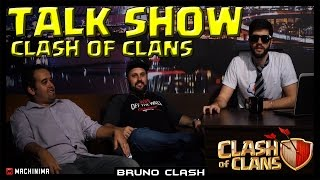 TALK SHOW dos Youtubers de Clash of Clans - Feet BRAZIL CLASHER & CJR - Bruno Clash