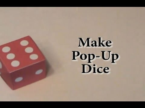 Rubber Band Pop Up Dice Youtube