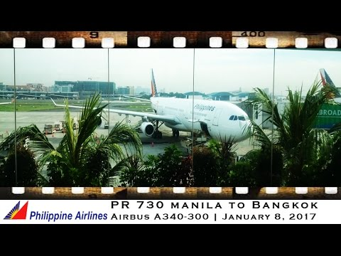 PHILIPPINE AIRLINES AIRBUS A340 MANILA TO BANGKOK ON PR 731