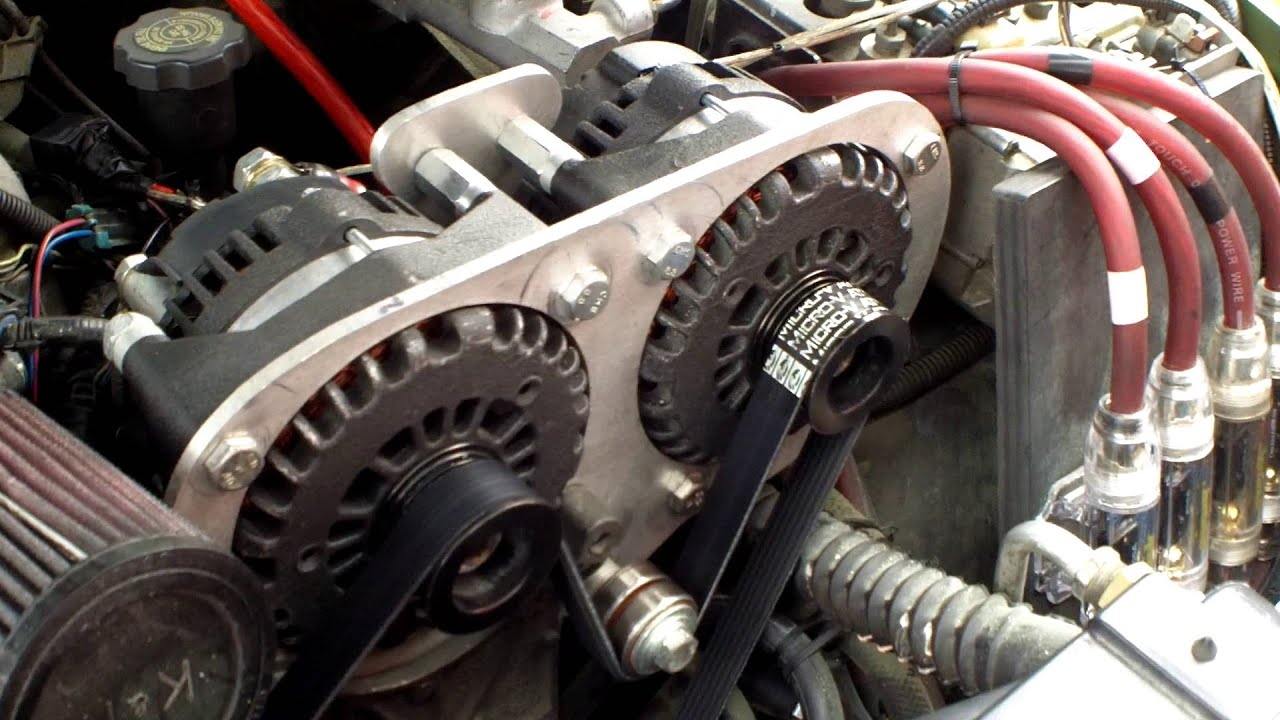 Chevy Blazer Dual 300 Amp Custom Alternator Setup