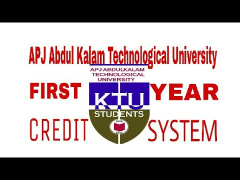 KTU 1st Year Credit System Explanation