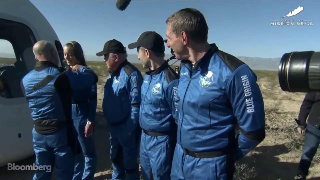 Watch William Shatner gaze at Earth from space in awe during Blue ...