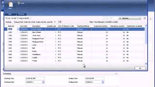 Microsoft Dynamics NAV Demo    Manufacturing   Sales Order Pre Production Part 3 of 3