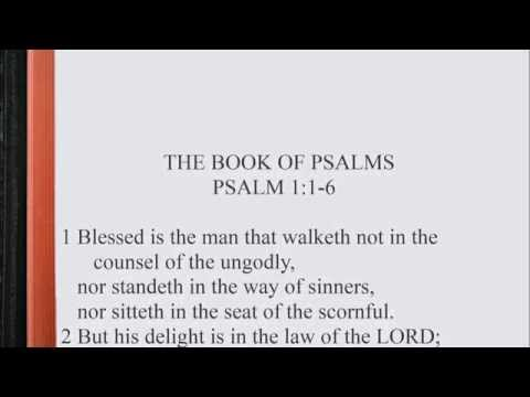 Psalm 1:1-6 ♩♫ KJV Scripture Song [Alternate version], Full Chapter