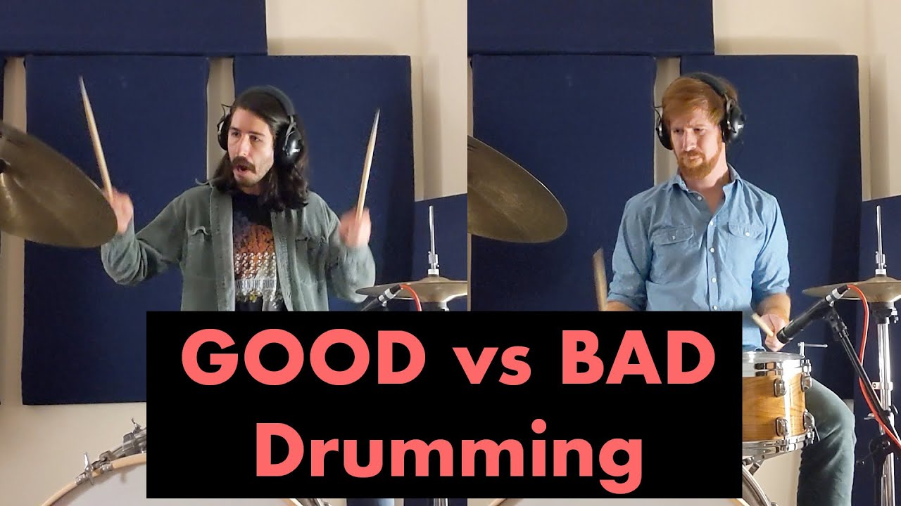Video: How Do GOOD and BAD Drummers Play Differently In The Studio?