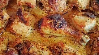 Курица, запеченная  в духовке, в маринаде с прованскими травами.