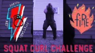 Bodybuilding with Kettlebell Ladder Sets : SQUAT CURL CHALLENGE