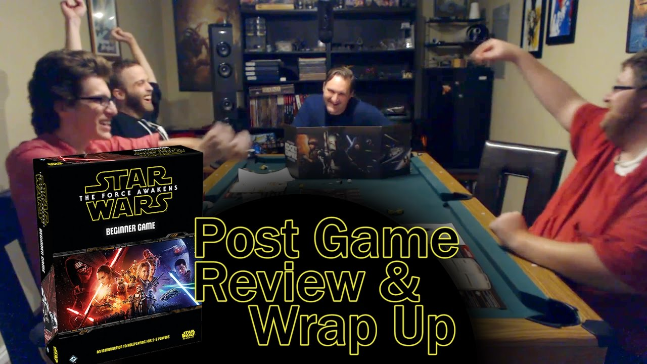 Star Wars RPG  Force Awakens Beginner Game  Review and Wrap Up - YouTube