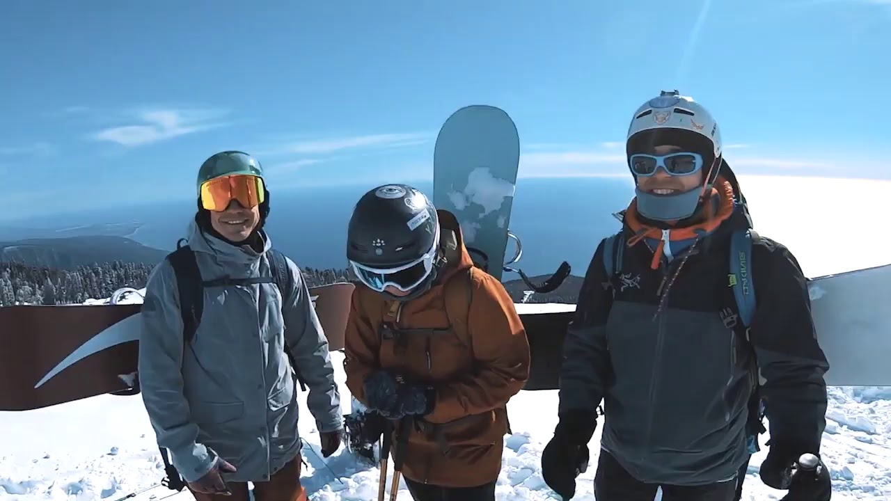 Камчатка по-Абхазски. Гора Мамзышха. Фрирайд с заброской на снегоходах