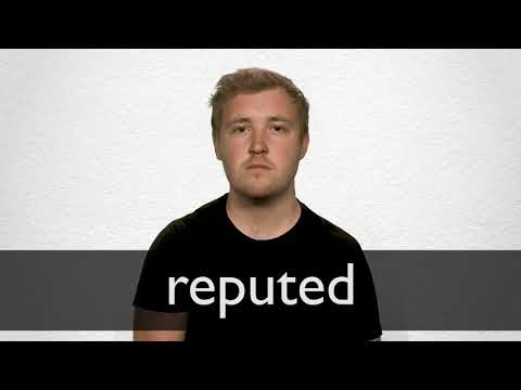 How to pronounce REPUTED in British English