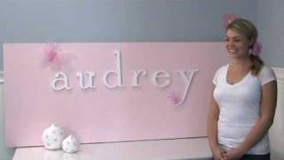 Display Hanging Wooden Wall Letters For Baby Nursery And Children's Bedroom