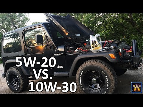 Another Oil Change - Jeep Wrangler on Mobil1 5W-20 vs 10W-30