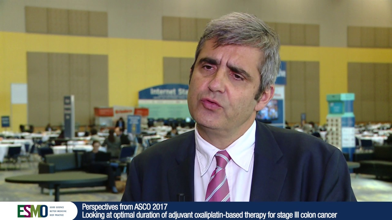 What should be duration of adjuvant oxaliplatin-based therapy for stage III  colon cancer?