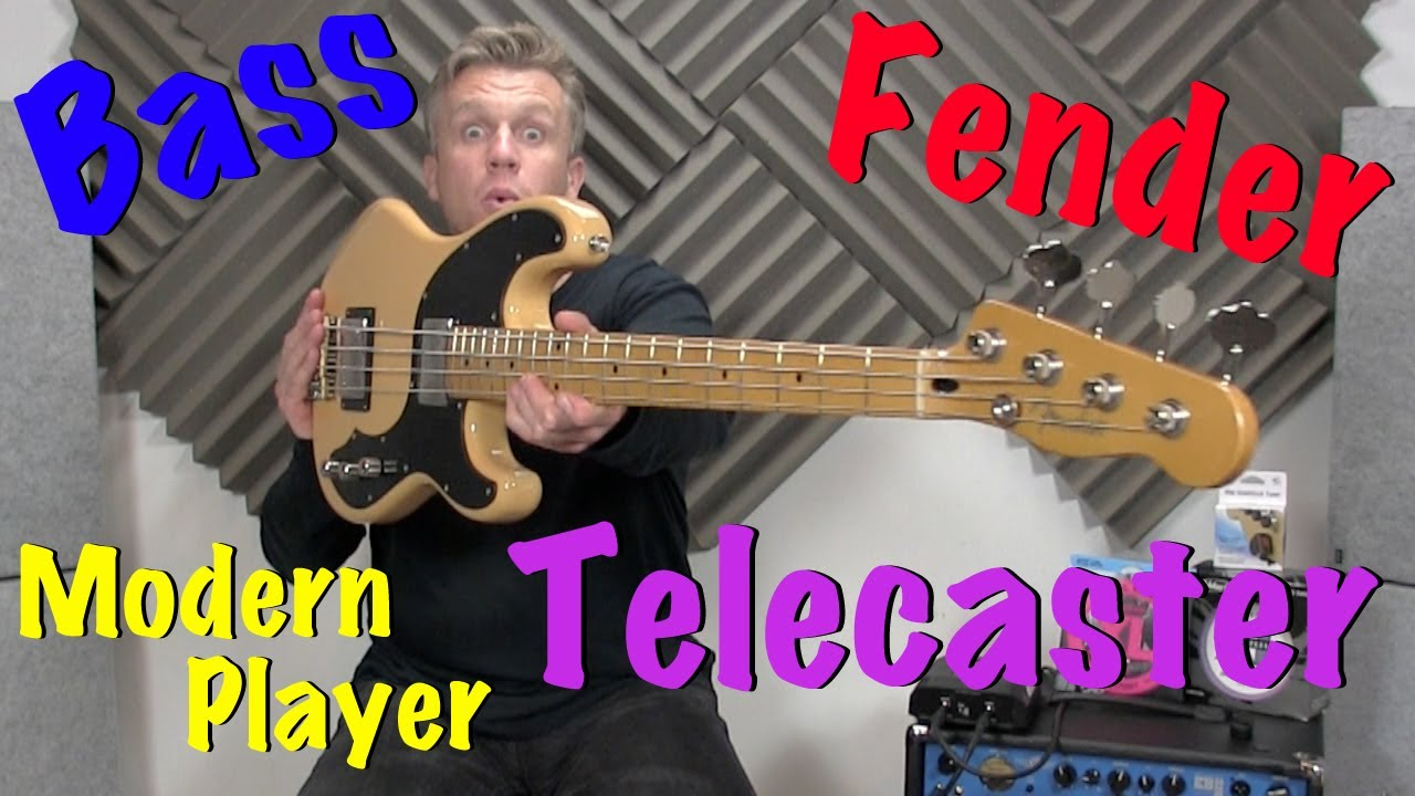 fender modern player telecaster bass review youtube. Black Bedroom Furniture Sets. Home Design Ideas