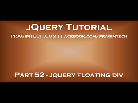 jquery floating div