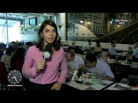 Reforma trabalhista: Pausa para almoço poderá ser negociada - SBT Brasil (15/05/17)