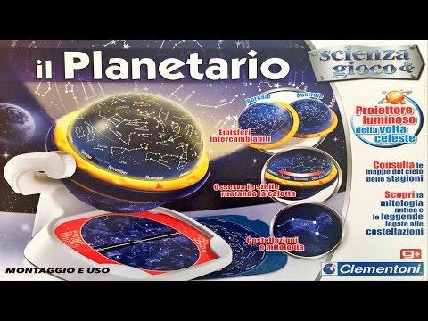 Planetario luminoso scienza e gioco della clementoni - montaggio e uso - parte #02