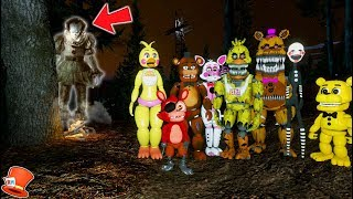 WILL THE ANIMATRONICS ESCAPE SCARY HAUNTED CLOWN FOREST? (GTA 5 Mods For Kids FNAF RedHatter)