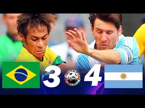 Brasil 3 X 4 Argentina (Neymar X Messi) - Melhores Momentos Jogos Amigáveis 2012
