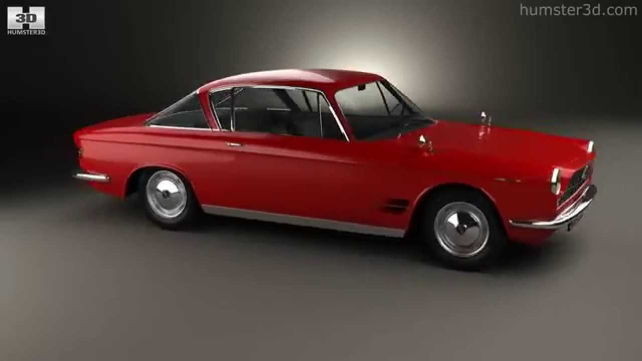 fiat 2300 s coupe 1961 by 3d model store. Black Bedroom Furniture Sets. Home Design Ideas