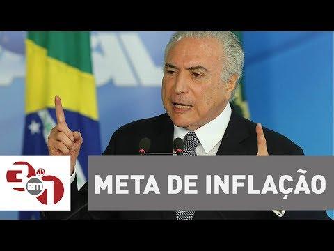 Governo Reduz A Meta De Inflação Para 4,25% A Partir De 2019.