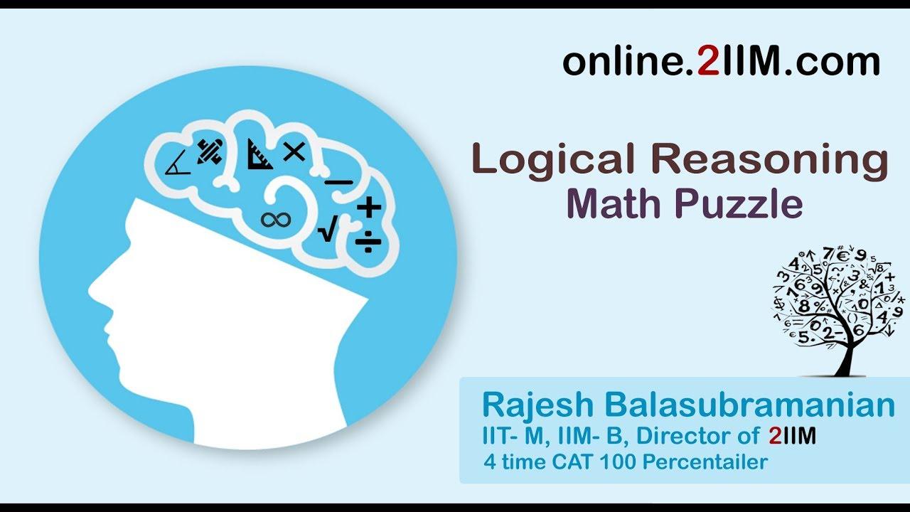 CAT Questions - LR DI: Logical Reasoning Math Puzzle, 2IIM