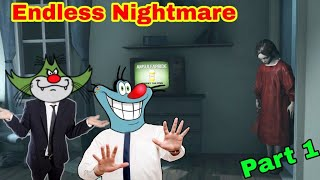 New Horror Game | Endless Nightmare With Oggy And Jack