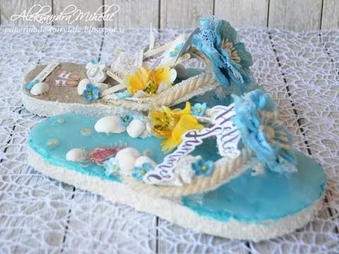 Altered Beach Slippers With Prima And Finnabair