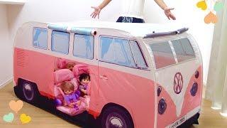 キッズテント ワーゲン バス メルちゃん ドライブ 車 / Volkswagen Camper Van Kids Pop-Up Play Tent thumbnail