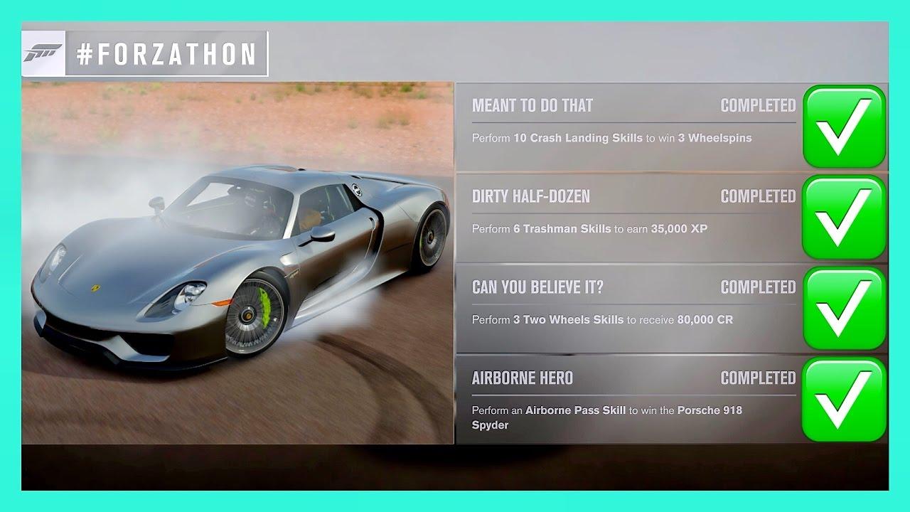 Forza Horizon 3 How To Win The Porsche 918 Spyder Other Prices Forzathon