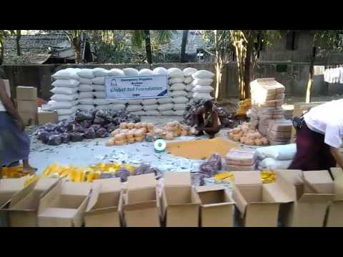 Food aid project 2017 for Rohingya Muslims sittwe  Burma.