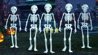 Five Little Skeletons | Halloween Nursery Rhymes for Kids | Kindergarten Cartoon by Little Treehouse