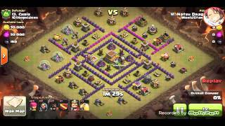 Clash Of Clans - Hog attack on a spread out base?!?!