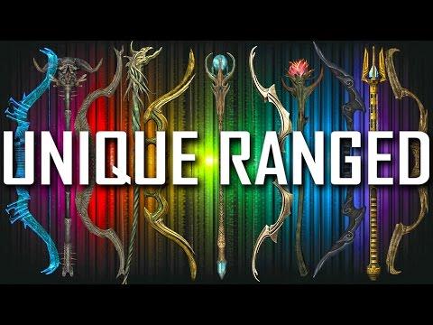 Skyrim - All Unique Bows & Staves