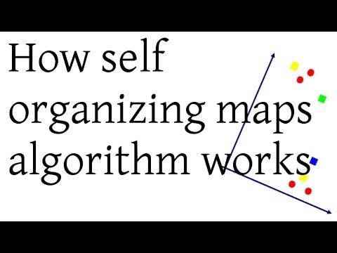 How SOM (Self Organizing Maps) algorithm works