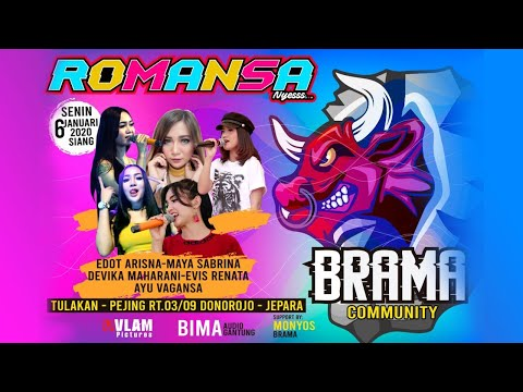 🔴 LIVE ROMANSA - BRAMA COMMUNITY // HAPPY PARTY  2020 // TULAKAN DONOROJO JEPARA // VLAM PICTURES