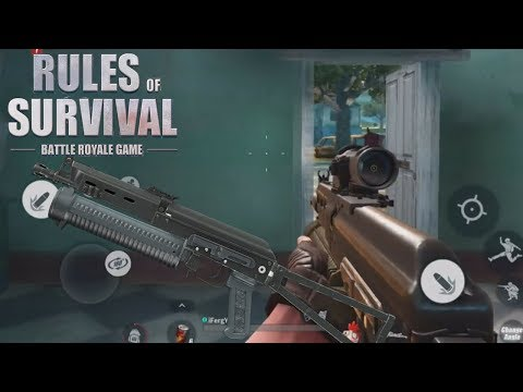 NEW FAVOURITE GUN for First Person in Rules Of Survival ! I Love This Gun !