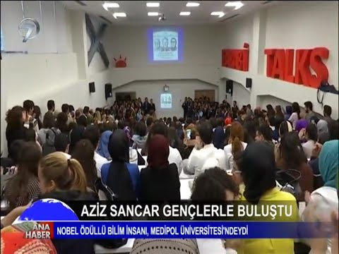 AzizSancar was at İstanbul Medipol University to meet with students.