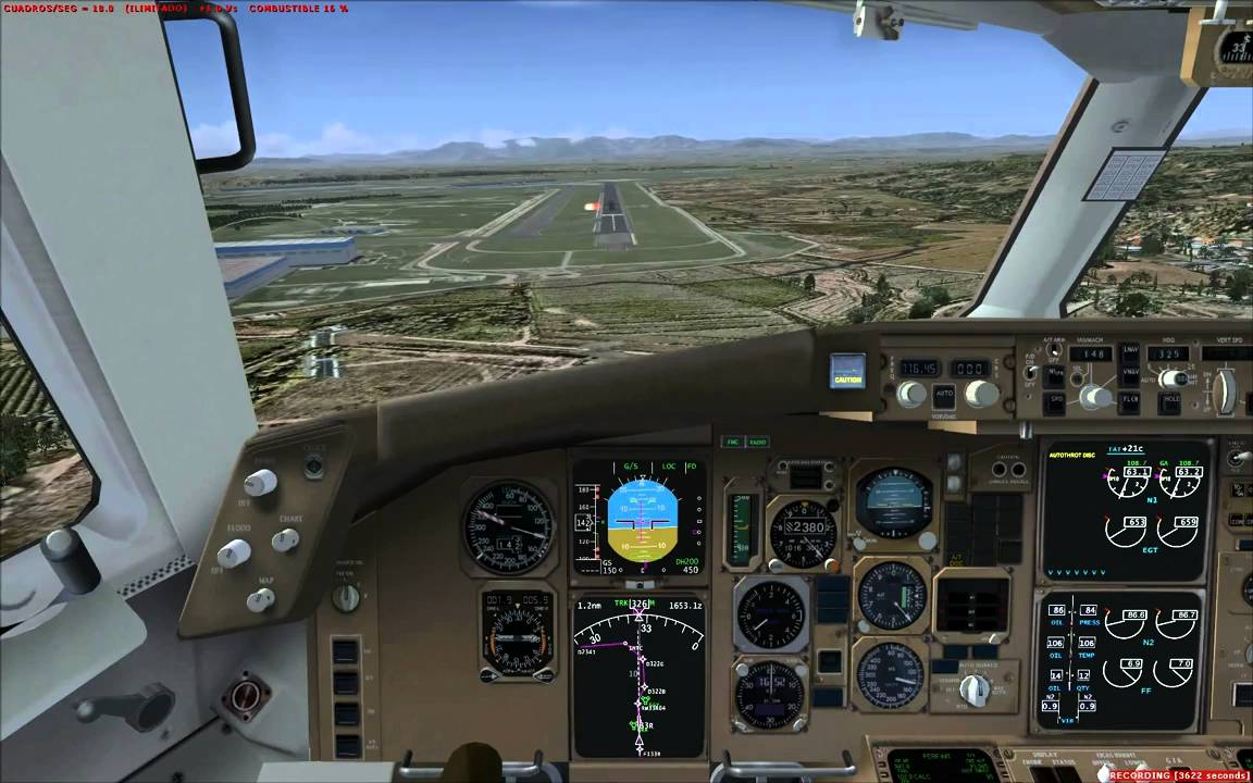FSX with Intel Core i7 2600K 3 4 GHz  + GTX 560 TI OC + Level-D 767 landing  Madrid Barajas X