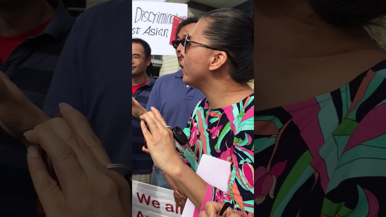08/05/2017 anti-disaggregation asian american protest in font of
